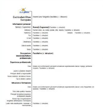 Curriculum Vitae Formato Europeo Foto Spoltore Notizie Spoltore