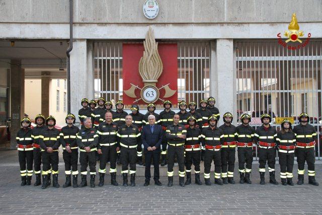 Vigili del fuoco volontari iniziato il 13esimo corso di for Magri arreda pescara